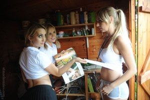 Two skiving college girls Amy Green and  - XXX Dessert - Picture 10