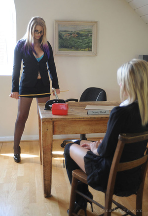 Strict Deputy Head Elise forced Amy Gree - XXX Dessert - Picture 1