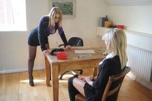 Strict Deputy Head Elise forced Amy Gree - XXX Dessert - Picture 2