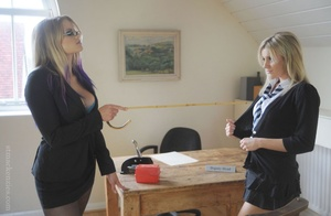 Strict Deputy Head Elise forced Amy Gree - XXX Dessert - Picture 9