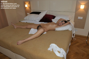 Big boobed hairy Velvet lying tied and l - XXX Dessert - Picture 5
