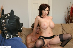 Busty Brunette Wife Strips & Fucks New M - XXX Dessert - Picture 20