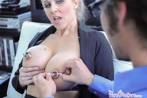 Blonde sexy milf gets her face cum cover - XXX Dessert - Picture 1