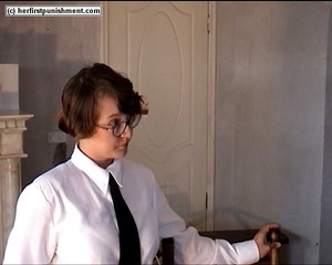 Schoolgirls but naked spanked for misbeh - XXX Dessert - Picture 4