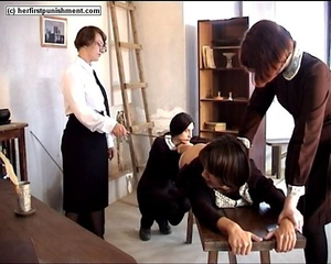 Schoolgirls but naked spanked for misbeh - XXX Dessert - Picture 9