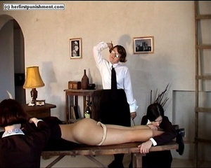 Schoolgirls but naked spanked for misbeh - XXX Dessert - Picture 11