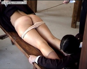 Schoolgirls but naked spanked for misbeh - XXX Dessert - Picture 12