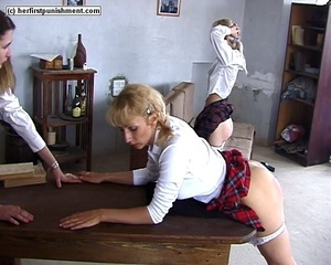 Naughty schoolgirl bends over and let's  - XXX Dessert - Picture 11