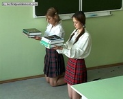 cute teens punished classroom