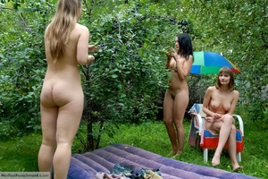 Army men spanking hard on a blonde's ass - XXX Dessert - Picture 2