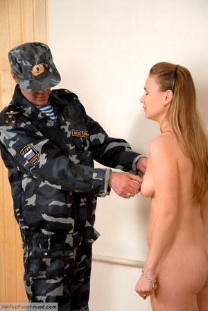 Army men spanking hard on a blonde's ass - XXX Dessert - Picture 8
