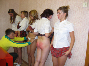 Really harsh spanking applied to the sch - XXX Dessert - Picture 9