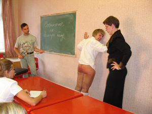 Really harsh spanking applied to the sch - XXX Dessert - Picture 13