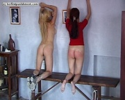 teen babes tied bench