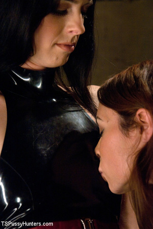 Shaved pussy brunette beauty in hot bdsm - XXX Dessert - Picture 3