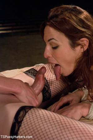 Shaved pussy brunette beauty in hot bdsm - XXX Dessert - Picture 14