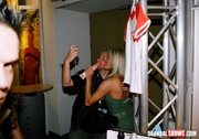 awesome blonde chick playing