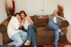 Hot Redhead Wife Gets Stuffed With New C - XXX Dessert - Picture 3