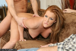 Hot Redhead Wife Gets Stuffed With New C - XXX Dessert - Picture 13