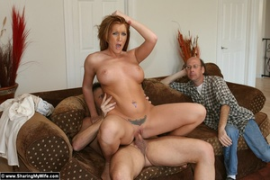 Hot Redhead Wife Gets Stuffed With New C - XXX Dessert - Picture 15