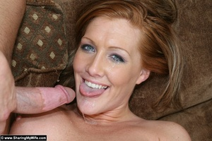 Hot Redhead Wife Gets Stuffed With New C - XXX Dessert - Picture 16