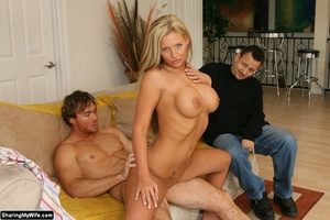 Gorgeous Blonde Busty Wife Fucks New Coc - Picture 15