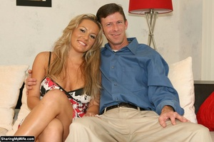Hot Blonde Wife Sucks Another Man's Dick - XXX Dessert - Picture 1