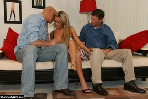 Hot Blonde Wife Sucks Another Man's Dick - XXX Dessert - Picture 3
