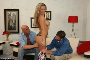 Hot Blonde Wife Sucks Another Man's Dick - XXX Dessert - Picture 8