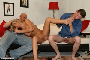 Hot Blonde Wife Sucks Another Man's Dick - XXX Dessert - Picture 9