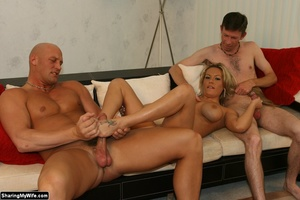 Hot Blonde Wife Sucks Another Man's Dick - XXX Dessert - Picture 10