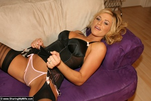Blonde Babe Brooke In Sexy Lingerie Gets - XXX Dessert - Picture 9
