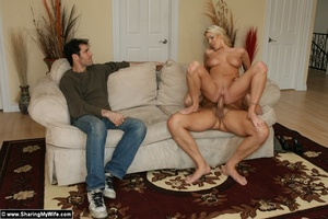 Babe Fucks Another Man While hubby watch - XXX Dessert - Picture 16