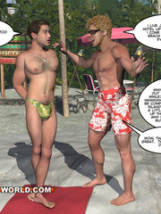 Cartoon porn with two gay dudes on the beach. Tags: - Picture 5
