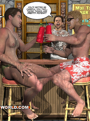 Cartoon porn with two gay dudes on the beach. Tags: - Picture 7