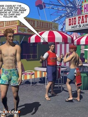 Gay male cartoons having fun at the carnival. Tags: - Picture 11