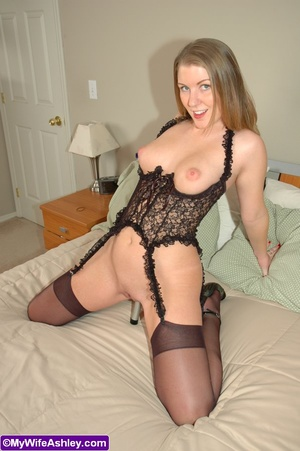 Blonde xxx wife in exclusive black linge - XXX Dessert - Picture 11