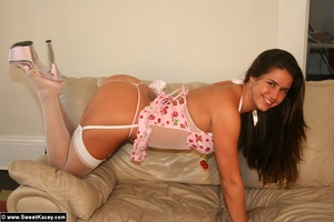 Perfect butt hot wife in wgite stockings - XXX Dessert - Picture 3