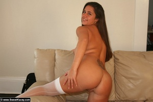 Perfect butt hot wife in wgite stockings - XXX Dessert - Picture 13
