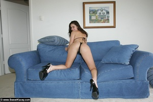 Nasty brunette housewife in black body p - XXX Dessert - Picture 4