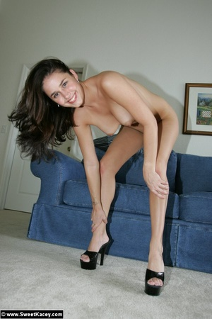 Nasty brunette housewife in black body p - XXX Dessert - Picture 12