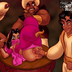 Cartoon Princess Jasmine is a real cum loving dirty - Picture 1
