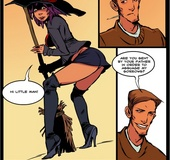 Inexperienced witch is dripping with desire for an aroused man