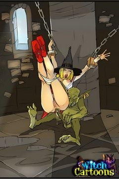 Check out toon xx pics of blonde witch gets all-holey - Picture 2