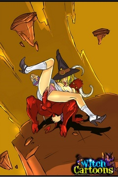 Cartoon witch love holes gets reemed out rough by - Picture 2