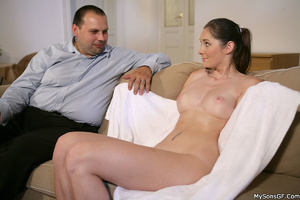 Shaved pussy girlfriend gets caught by her bf while fucking with his dad. Tags: Naked girl, pussy licking, pink pussy, old young. - XXXonXXX - Pic 2