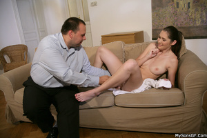 Horny older guy forced his son's gf to hardcore sex while in private. Tags: Old young, pussy licking, naked girl, shaved vagina. - XXXonXXX - Pic 2