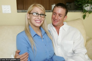 Blonde Busty Wife Candy Takes New Dick - XXX Dessert - Picture 2