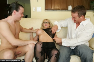 Blonde Busty Wife Candy Takes New Dick - XXX Dessert - Picture 7