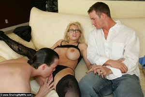 Blonde Busty Wife Candy Takes New Dick - XXX Dessert - Picture 9